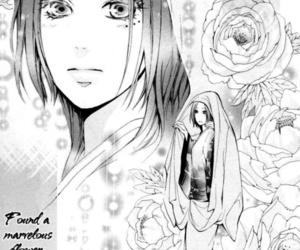 black and white, manga, and botan image