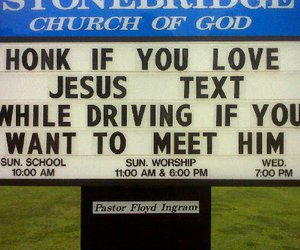 jesus, funny, and driving image