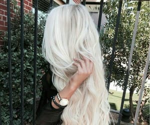 blonde, curly, and platinum image