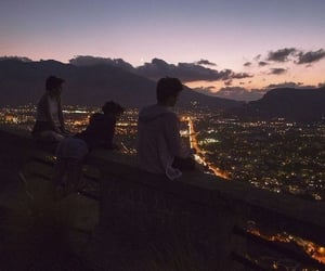 friends, city, and lights image