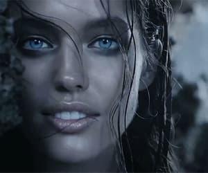 blue eyes, wet hair, and alternative indie image