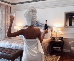girl, luxury, and champagne image