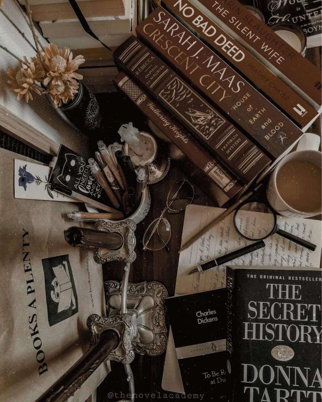 books and dark academia image
