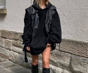 black, winter, and fashion image