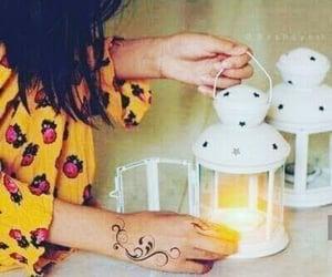 girl, lamp, and ramzan image