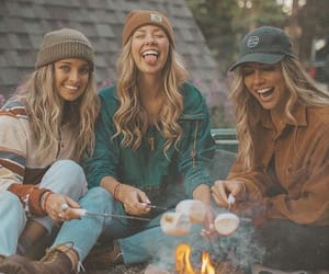 autumn, best friends, and besties image