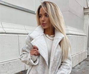 blonde hair, clothes, and fashion image