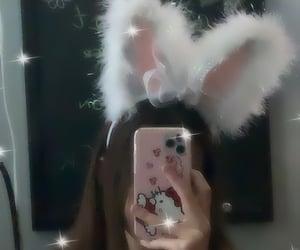 aesthetic, bunny, and bunny ears image