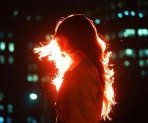 light, city, and girl image