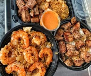 shrimp, dinner, and food image