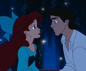 disney, arielle, and prince image