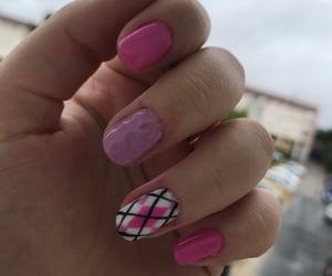 barbie, nails, and uñas image