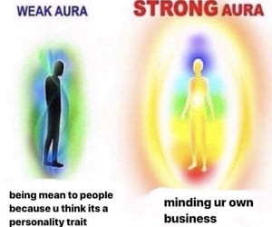 aura, colors, and funny image