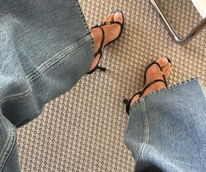 heels, fashion, and denim image