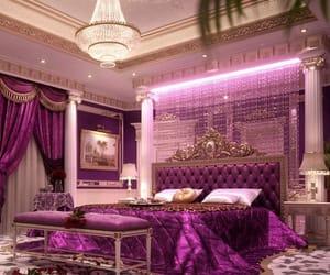 luxury, purple, and bedroom image