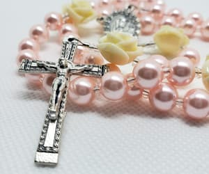 handmade rosary, new parent gift, and etsy image