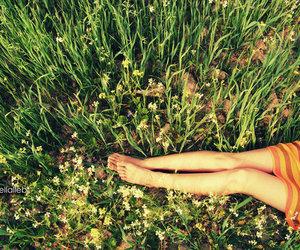 grass and girl image