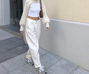 everyday look, white crop top, and fashionista fashionable image