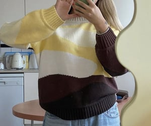 knitwear, everyday look, and colorful sweater image