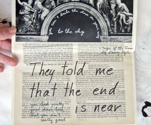 Lyrics, Harry Styles, and sign of the times image