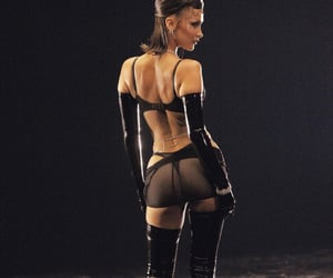 latex, model, and shoes image