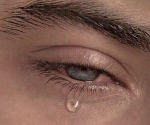 crying, eyes, and blue image