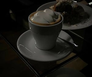 aesthetic, coffee, and dark image