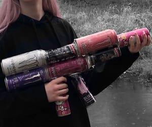 girls, grunge, and gun image
