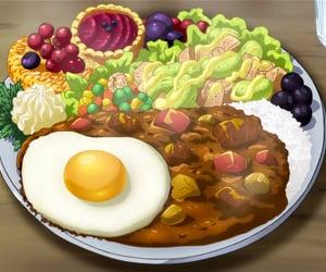 anime, anime gif, and anime food image