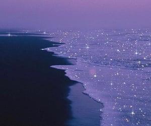 aesthetic, beach, and purple image