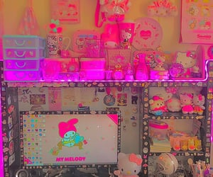 indie, pink, and desk image