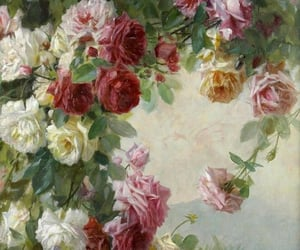rose, flowers, and painting image
