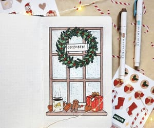 december, planner, and christmas image