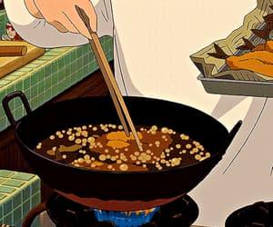 anime, anime gif, and food image