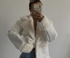 faux fur, autumn fall winter, and white coat image