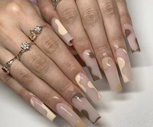 brown, long nails, and nails image