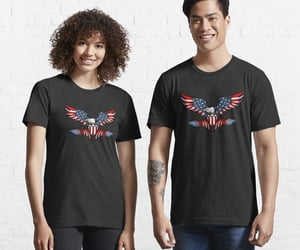 american flag, patriot, and usa image