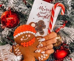 christmas, christmas tree, and gingerbread image