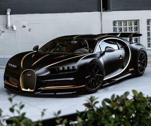 cars, black, and bugatti image