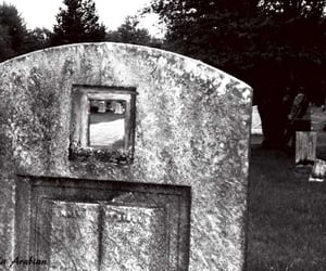 alone, cemetery, and grave image