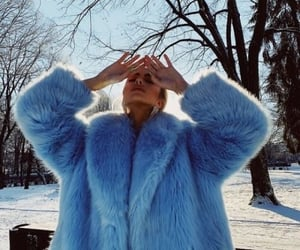 blue, fashion, and snow image