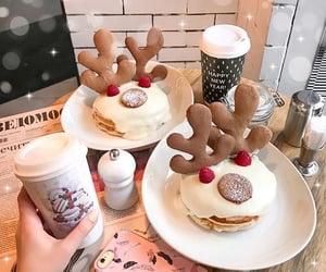 food, reindeer, and xmas image