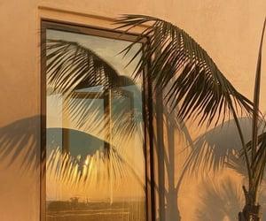 sea, sunset, and window image