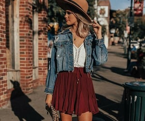 boho, denim, and fashion image