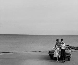 car, couple, and sea image