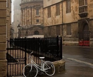 city, bike, and street image