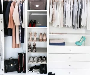 apartment, bags, and closet image
