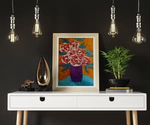 etsy, 3d oil painting, and roses knife art image