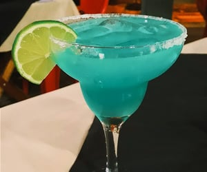 blue, cocktail, and drink image