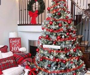 christmas, christmas tree, and theme image
